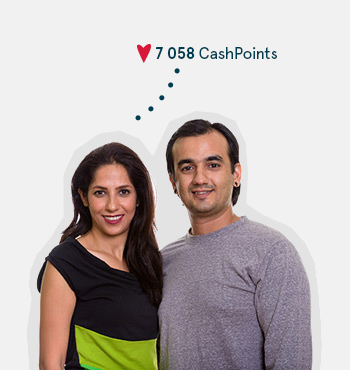 Image of couple earning CashPoints