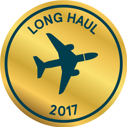 A golden Limited Edition Long Haul ticket icon